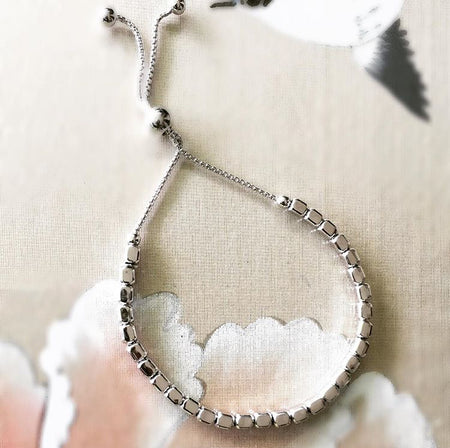 OUR ADJUSTABLE BOLO BRACELET THAT FITS EVERYONE IN STERLING SILVER