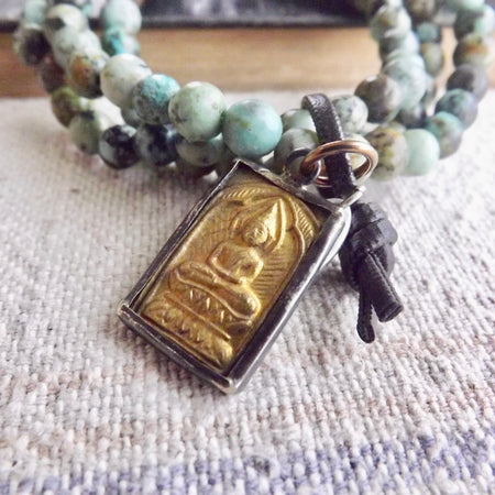 OUR LOVELY MODERN MERCANTILE BUDDHA CHARM STACK STRETCH BRACELETS