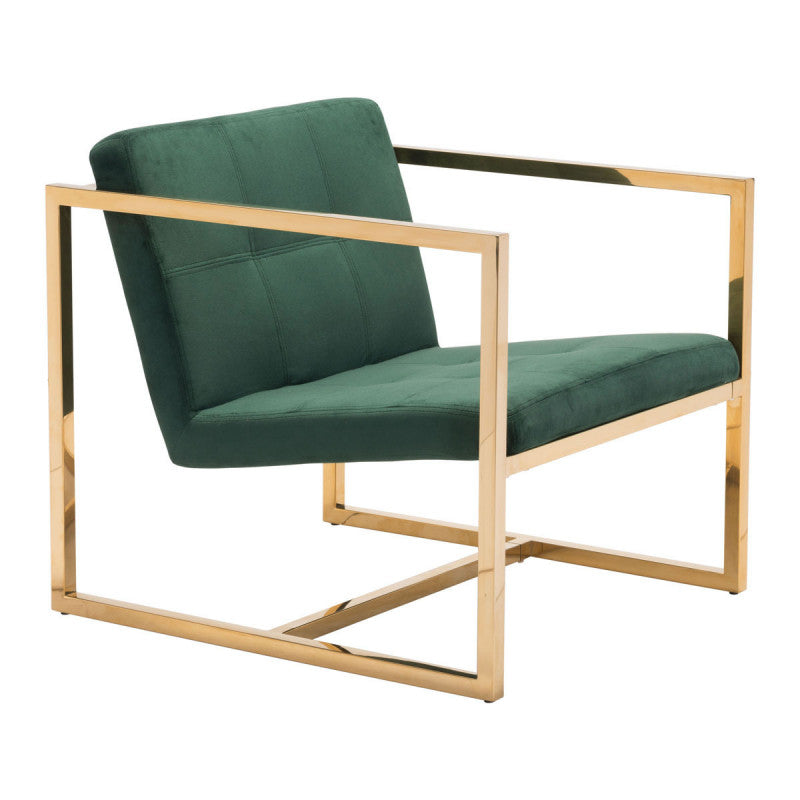 Alt Arm Chair Green Velvet