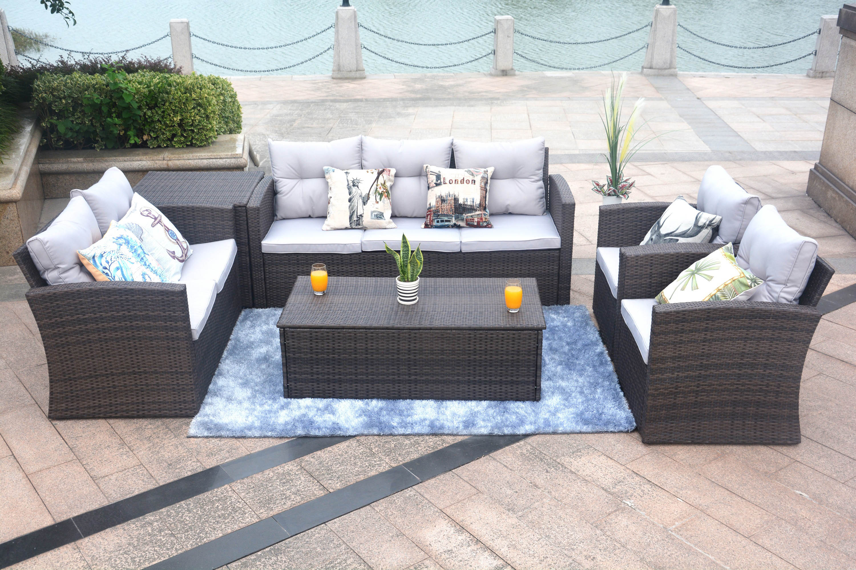 Edmond 6 piece sofa set for outdoors by Mr. backyard