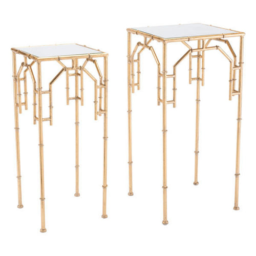 Bamboo Set Of 2 Tables Gold