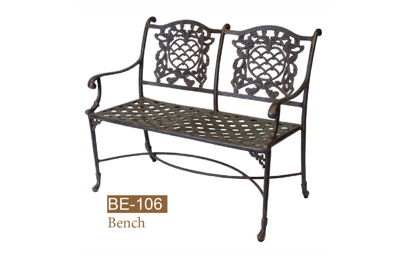 Cast Alum Fully Welded Love Seat 2pc