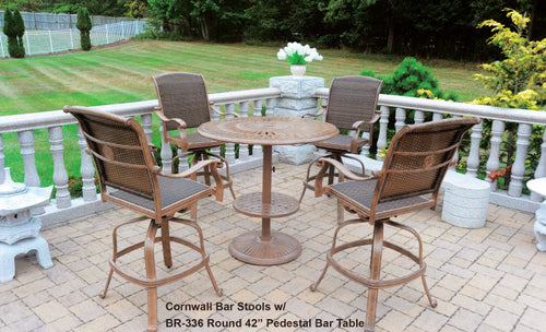 Diamond Round Pedestal Bar Table 1pc