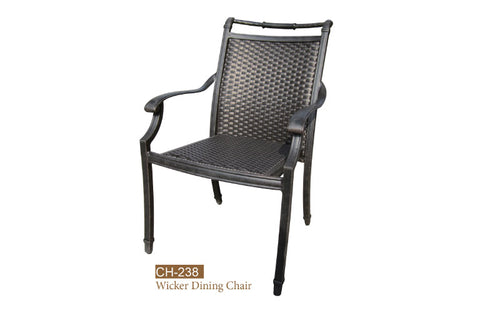 Fully Welde Wicker Dining Chair 4pc
