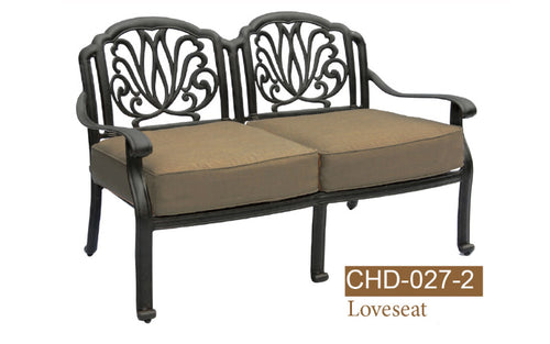 Fully Welded Deep Seating Love Seat 2pc
