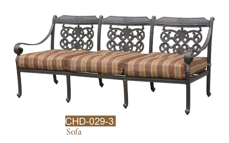 Fully Welded Deep Seating Sofa 2pc