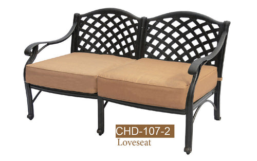 Deep Seating Love Seat   K/D 1pc