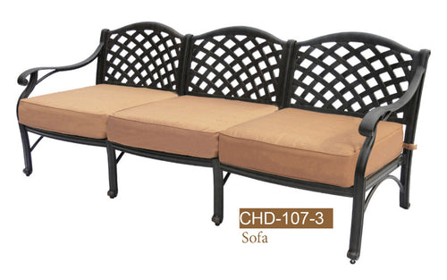 Deep Seating 3 Seat Sofa   K/D 1pc