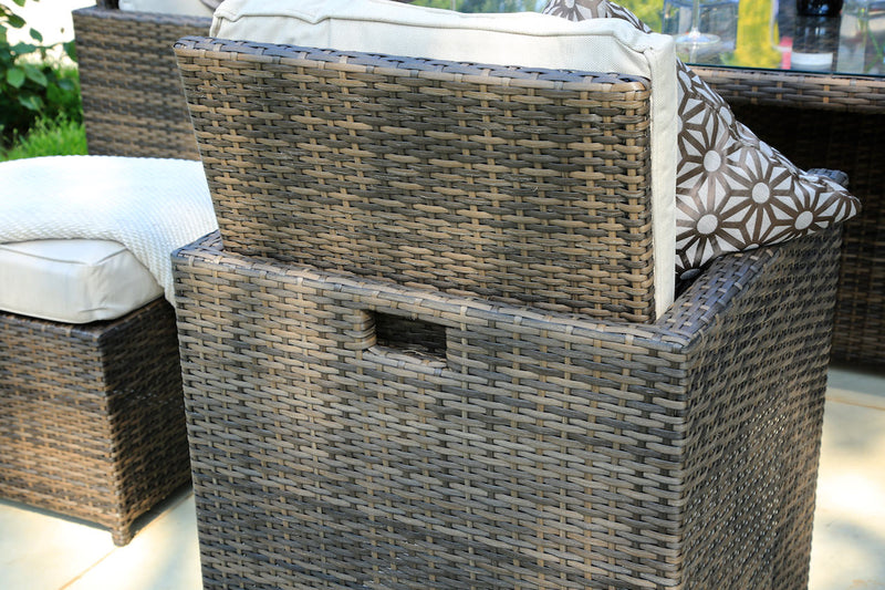 Premium Lynette set comes with aluminum welded frame and hand woven rattan of the highest quality - only by Mr. backyard