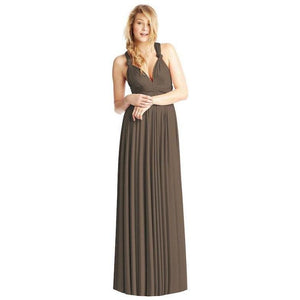 Convertible Ballgown In Mocha