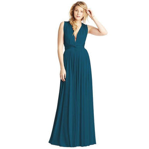 Convertible Ballgown In Sea Blue