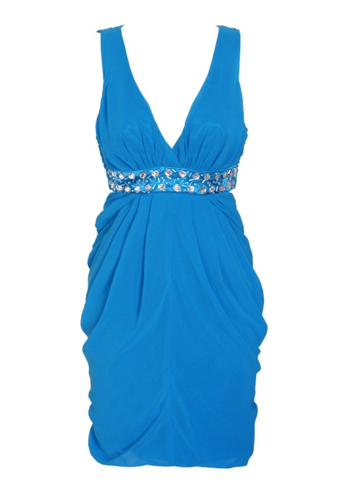 Lipsy Chiffon Backless Dress - Glitzy Angel