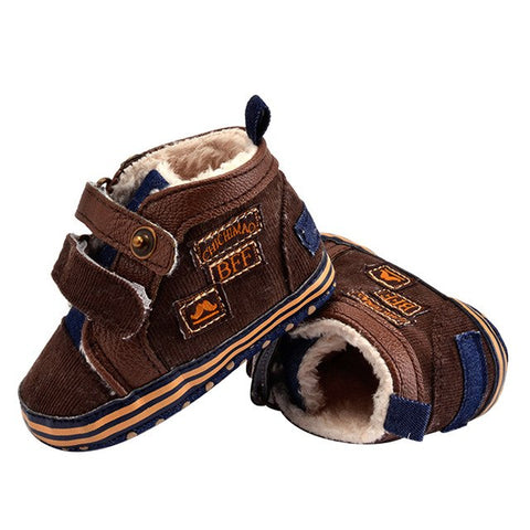 Warm Boots, First Walker Anti-slip Soft Soles 0-18 mos