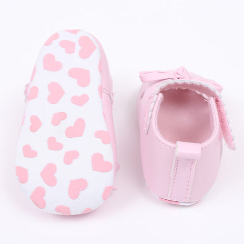 Soft Sole Bowknot Heart Shoes Size 2, 3 & 4