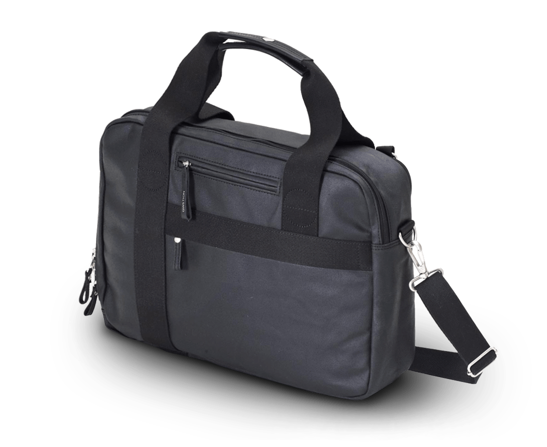Qwstion Office Bag in Organic Jet Black. Qwstion. Compendium Design Store. AfterPay, ZipPay accepted.