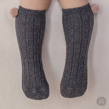 Laura knee socks - Charcoal