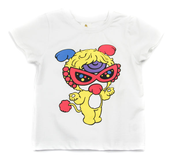 Hysteric-Mini Short Sleeve Tee (White + Yellow)