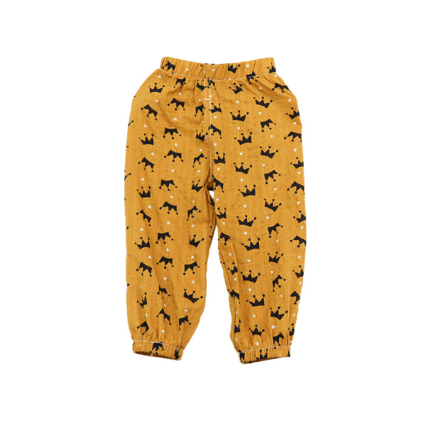 Summer Toddler Pant - Yellow Colour with Crown