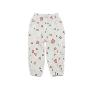 Summer Toddler Pant - White Colour with Circle