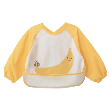 Baby Bib Smock - Yellow Banana