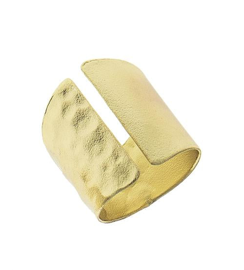 Solid Metal Statement Ring with Slit