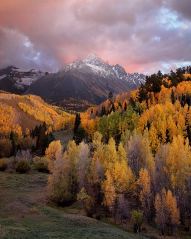 """Sunset, Mt. Sneffels, Colorado"" by David Clack"