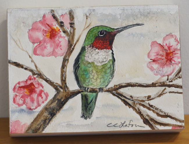"""Perching Hummingbird"" by Cheryl Lafon"