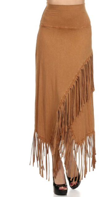 T*Party Fringed Maxi Skirt