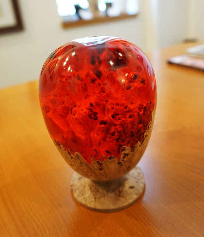 """Red Cast Egg"" by Derek Ecker"