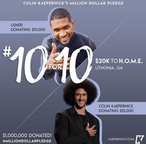 Colin Kaepernick x Usher #10for10