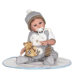 Lifelike Baby Boy Fletcher & Bear Doll-Banydoll