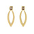 MANAL MORGANITE EARRING IN 14K PLATED BRASS