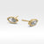 14K SOLID GOLD MARQUISE STUD EARRINGS