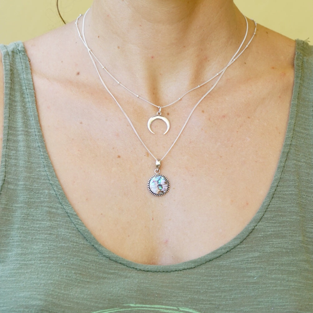 Moon Horn Crescent Necklace