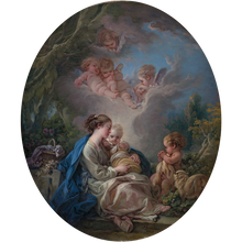 Load image into Gallery viewer, Virgin and Child with the Young Saint John the Baptist and Angels