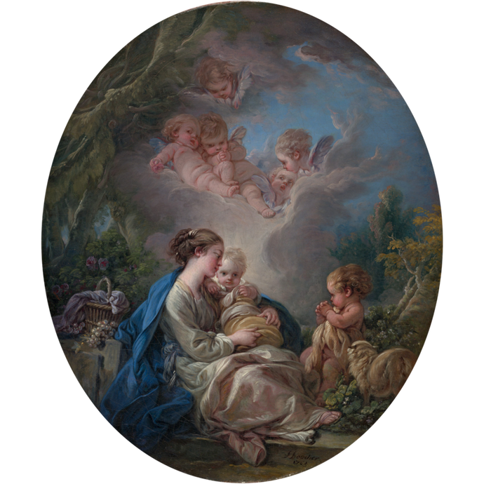 Virgin and Child with the Young Saint John the Baptist and Angels