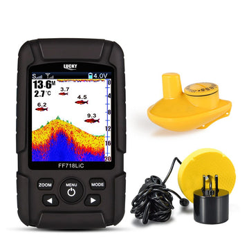 Fish Finder LUCKY FF718LiC 328ft /100m depth Sonar Transducer 2-in-1 Wired & Wireless Sensor