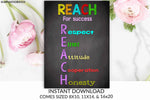 Classroom Decor, Teacher Decor, Reach, Success, Reach for Success, Teacher Gift, Educational Decor, Classroom Decoration, School Sign