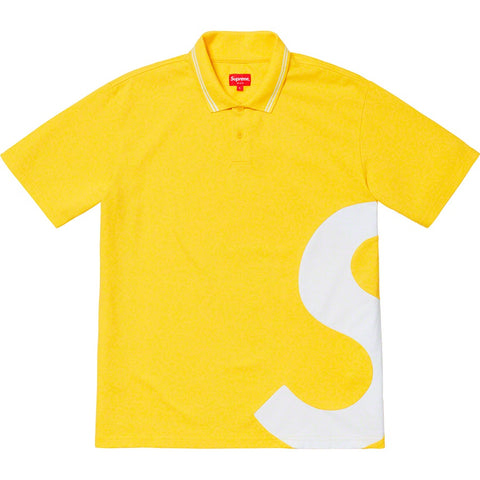Supreme 19S/S S Logo Polo Yellow