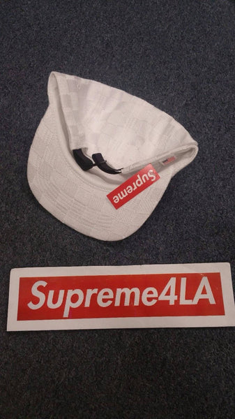 Supreme 17F/W Checker Weave Camp Cap White