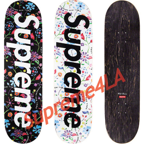 19S/S Airbrushed Floral Skateboard (Set of 2)