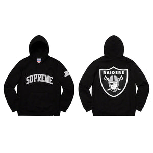 Supreme 19S/S NFL Raiders '47 Hooded Sweatshirt Black