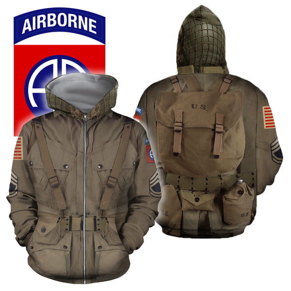 3D All Over Printed 82nd Airborne Division WW2