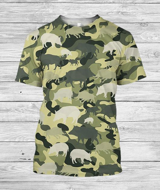 3D All Over Printed Camo Boar