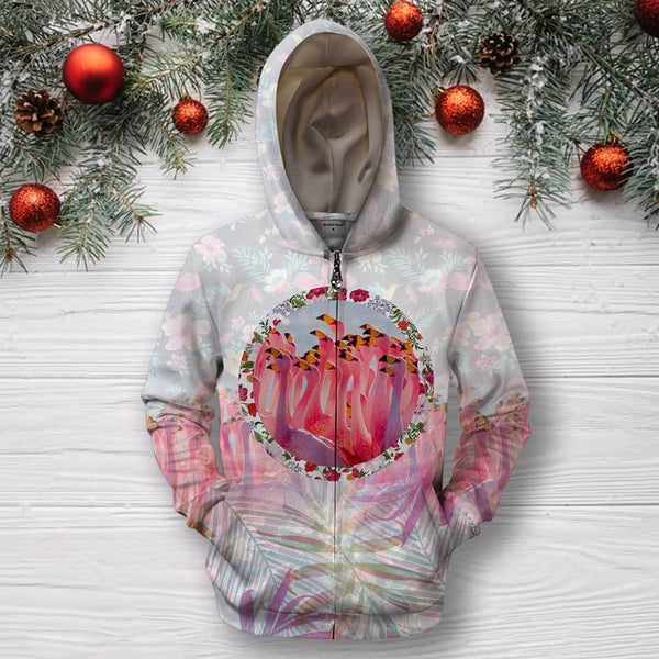 3D All Over Print Flamingo Hoodie