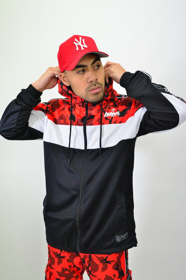 TRACK JACKET - RED CAMO