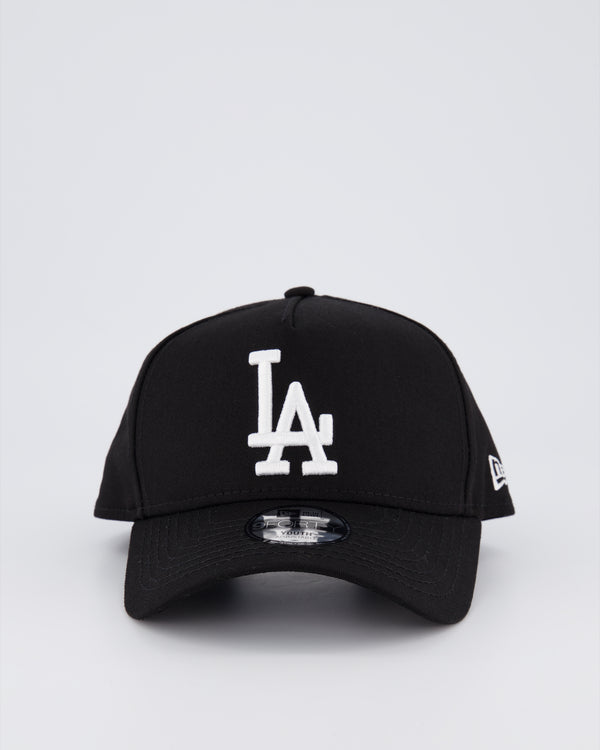YOUTH LA DODGERS 9FORTY A-FRAME - BLACK