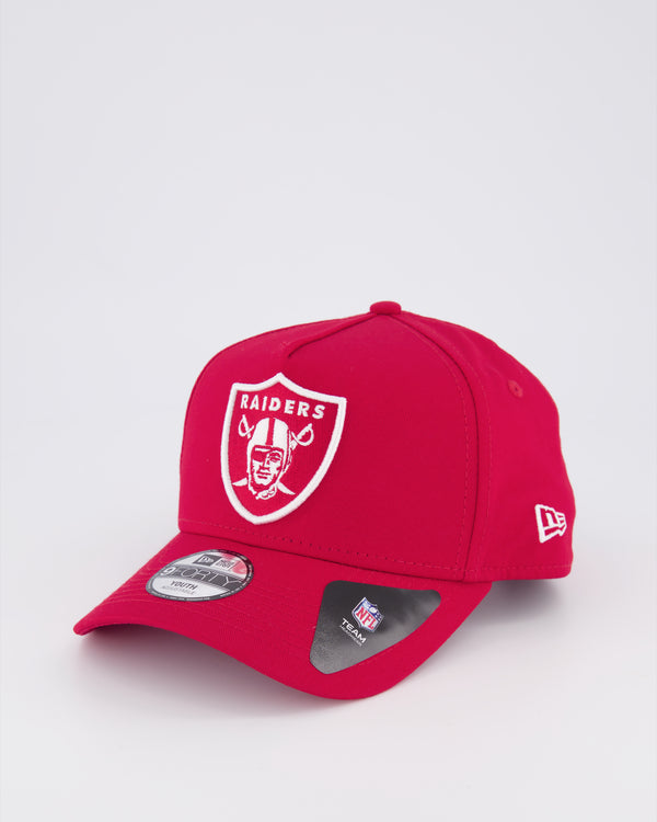 YOUTH OAKLAND RAIDERS 9FORTY A-FRAME - SCARLET RED