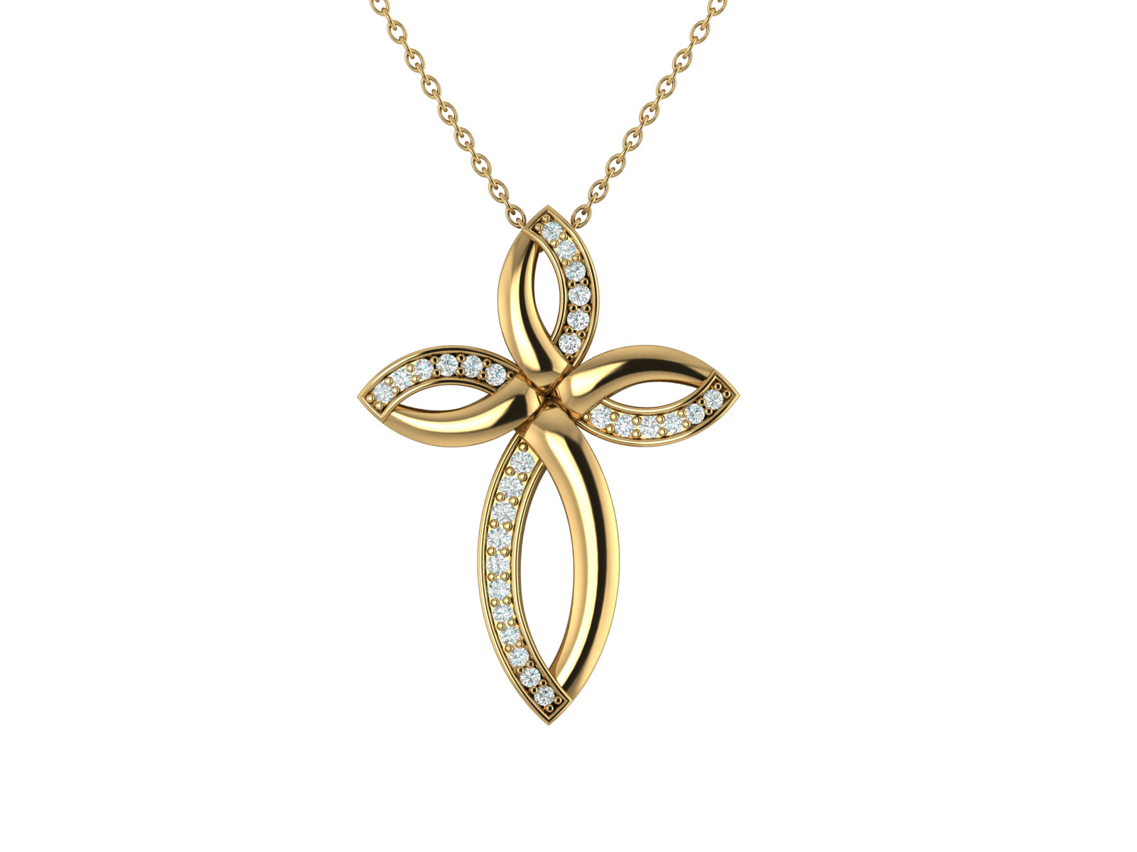 'Marvella' - Diamond Cross Pendant