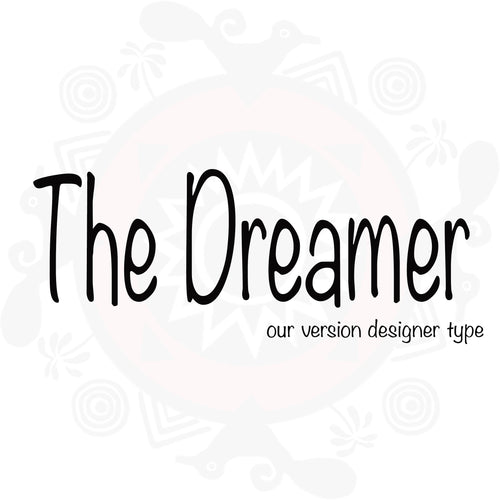 The Dreamer (M) type compared to The Dreamer (M) Versace type